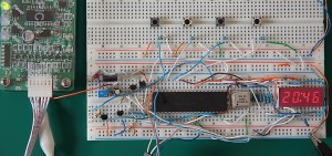 PIC16F877A Digital Clock Prototype Board
