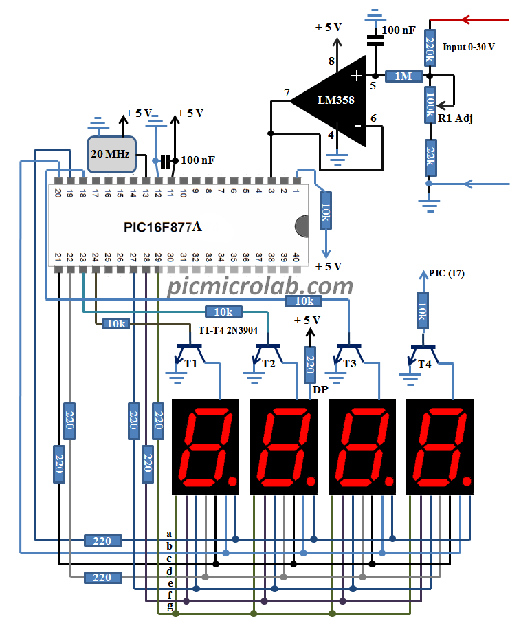 Transistor Wiring Diagram Symbols additionally 31537 Encoder Wiring On Mesa 7i77 Board in addition 10 Bit 7 Segment Digital Voltmeter also Dc And Ac Electric Power Measurement besides How To Convert A Regular Switched Circuit To A Three Way. on voltmeter wiring diagram