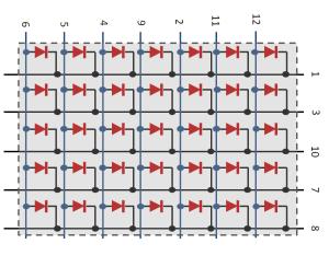 QDSP-L149 5x7 Dot Matrix Diagram