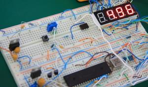 10 Bit 7-Segment Digital Voltmeter Prototype Board