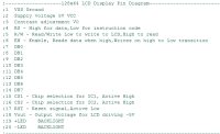 128x64 LCD Display Pin Diagram