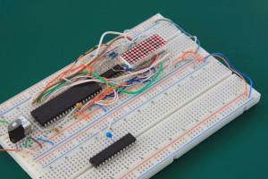 3.5 Digit 5x7 Dot Matrix LED Display Prototype Board