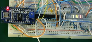 AD9850 PIC16F876A Interface Prototype Board