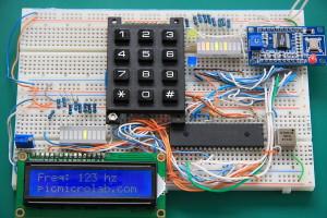 AD9850 Signal Generator PIC16F877A Prototype Board