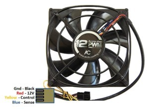 Arctic Cooling F12 PWM 120 mm Fan Pinout