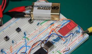 PIC16F877A DVM 9v Test