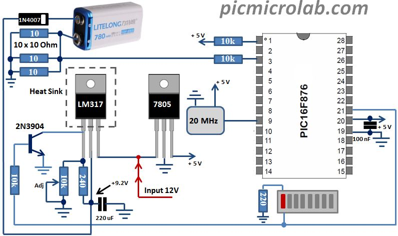 9 Volt Battery Charger Schematic Updated