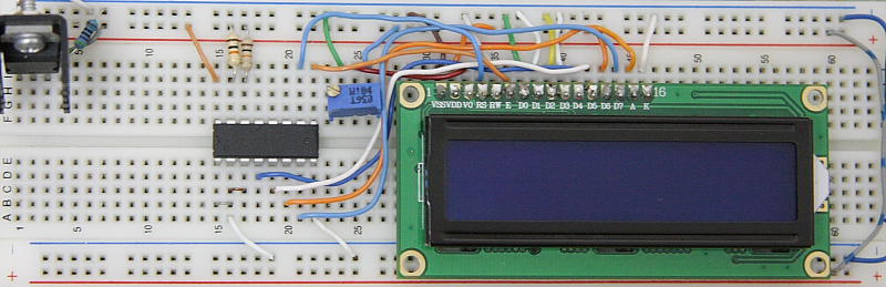 Serial LCD Interface I2C Prototype Board