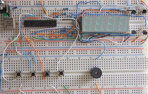 Digital Alarm Clock Prototype Board