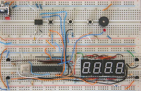 Digital Stopwatch Prototype Board