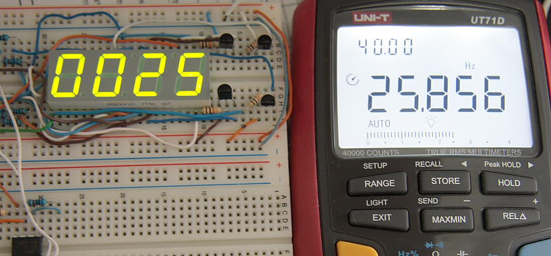 Basic PIC Frequency Counter UT71D Test