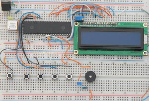 LCD Alarm Clock Prototype Board Low Res