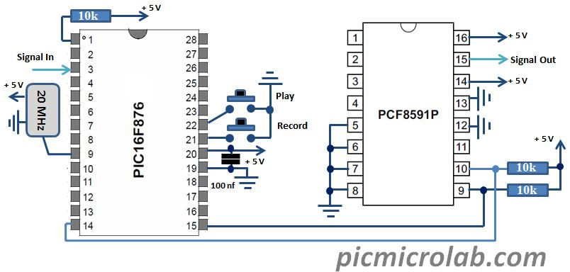 PIC Waveform Recorder Schematic