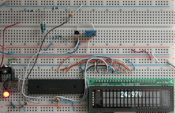 Digital Voltmeter VFD Display Prototype Board