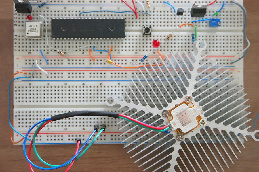 High Power LED Controller Prototype Board
