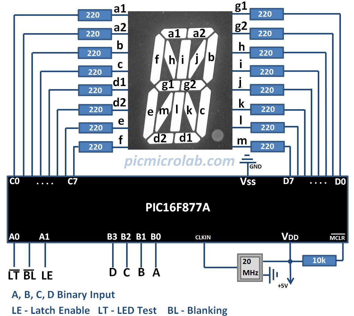 Alphanumeric Display Driver Schematic