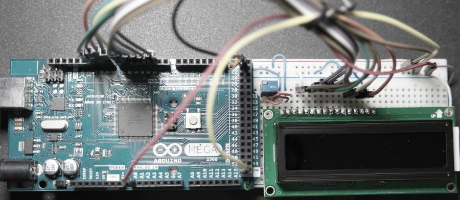 Arduino-LCD-Bargraph-Voltmeter-Prototype-Board