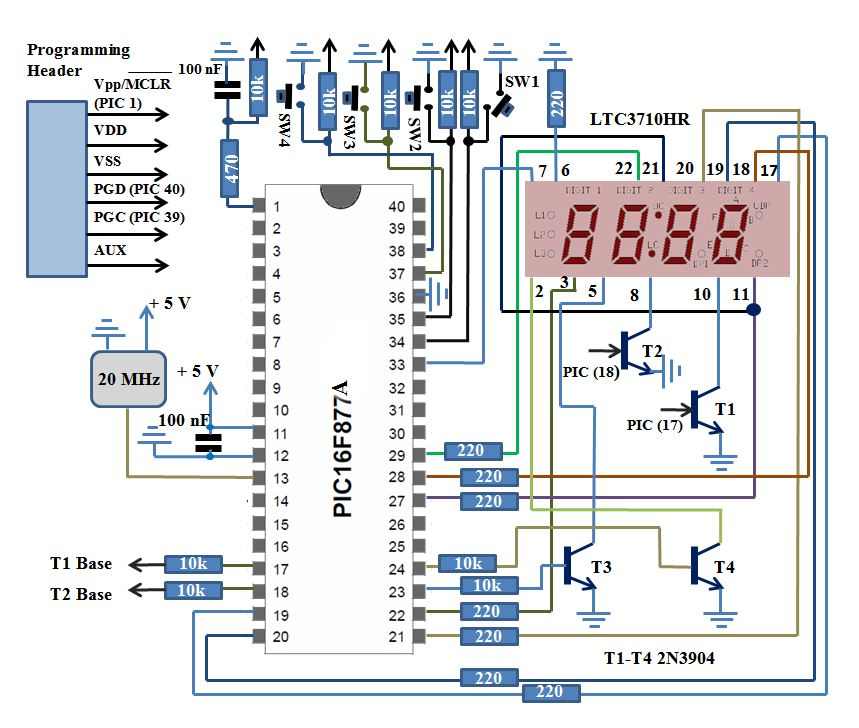 pic16f877a digital clockDigital Clock Diagram #21