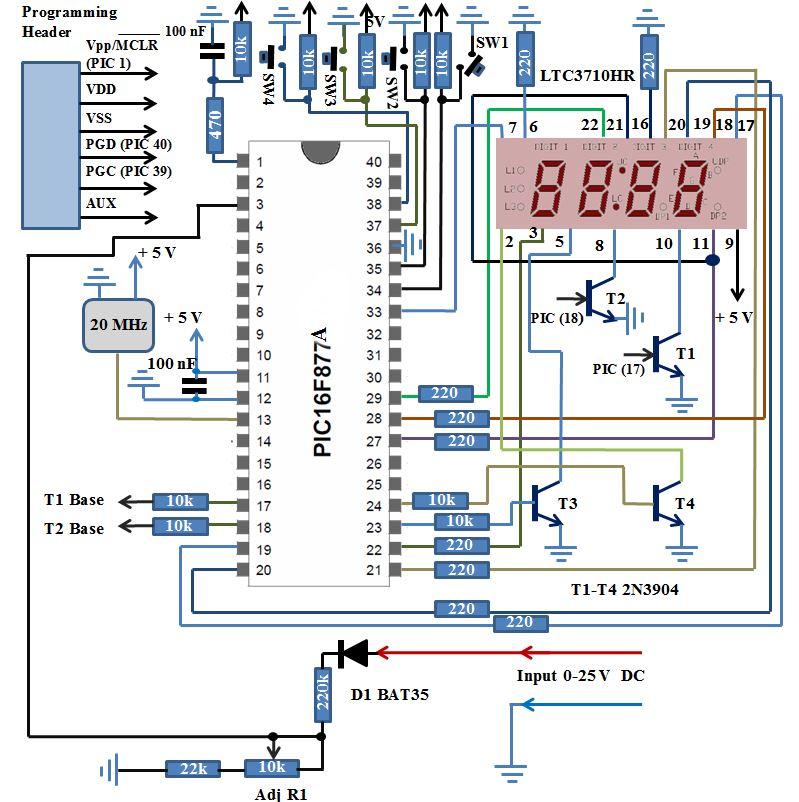 Tremendous Simple Digital Voltmeter Dvm Using Pic12F675 Schematic Wiring Wiring Digital Resources Jebrpkbiperorg