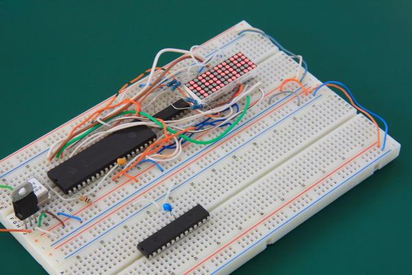 3 5 Digit 5×7 Dot Matrix LED Display Prototype Board