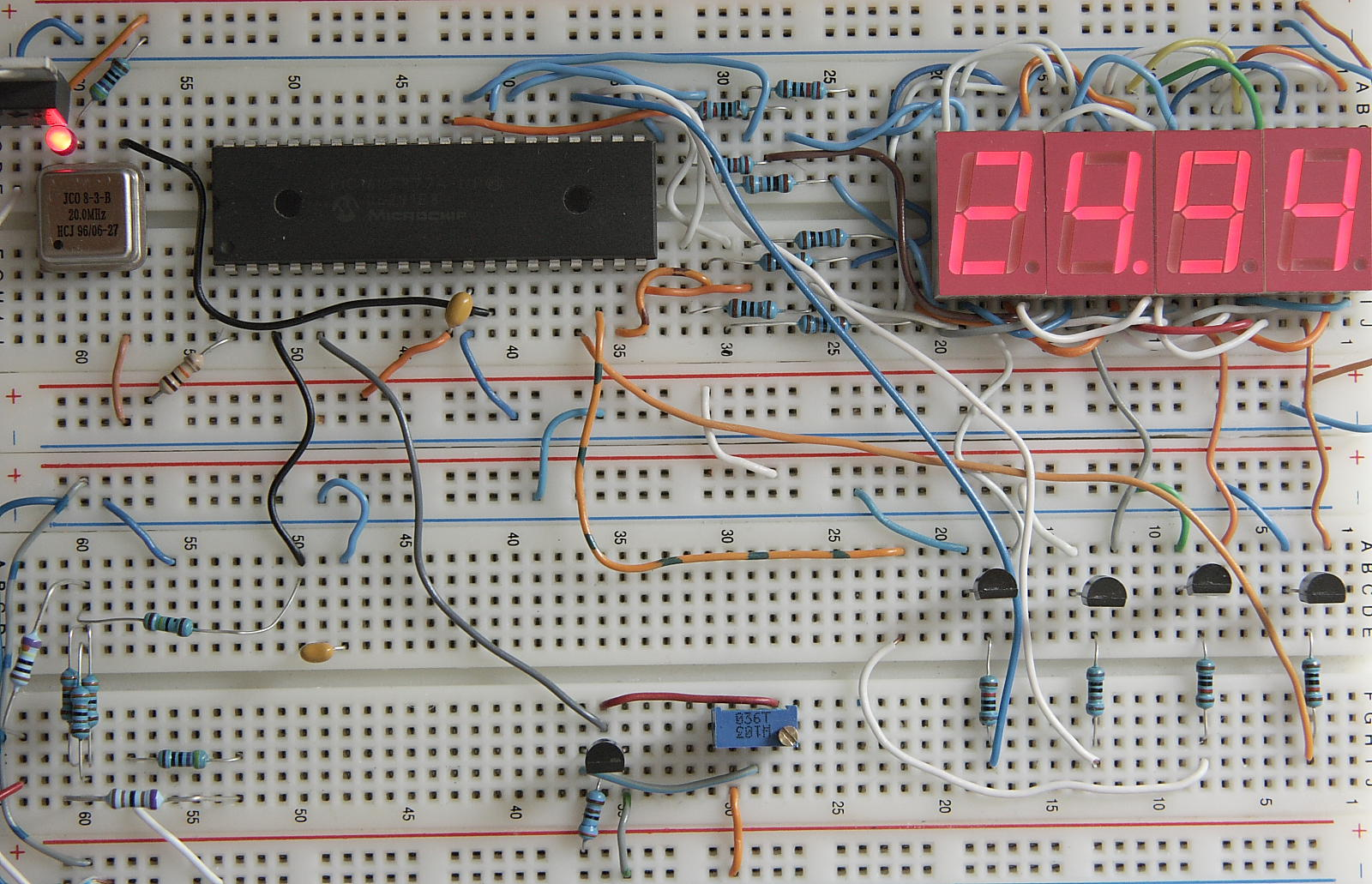 Digital Voltmeter Led Display Circuit Prototype Board