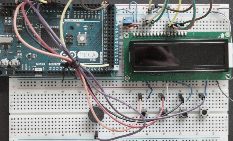 LCD Digital Alarm Clock Arduino