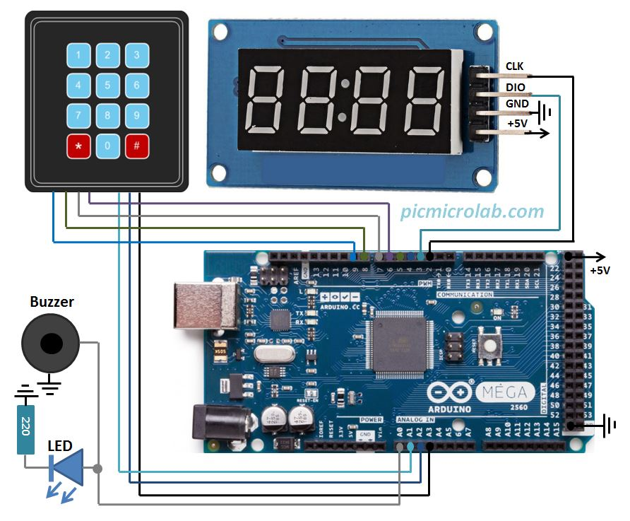 component countdown timer circuit led countdown timer circuit 1arduino 4 digit led 7 segment countdown timercomponent countdown timer circuit led countdown timer circuit