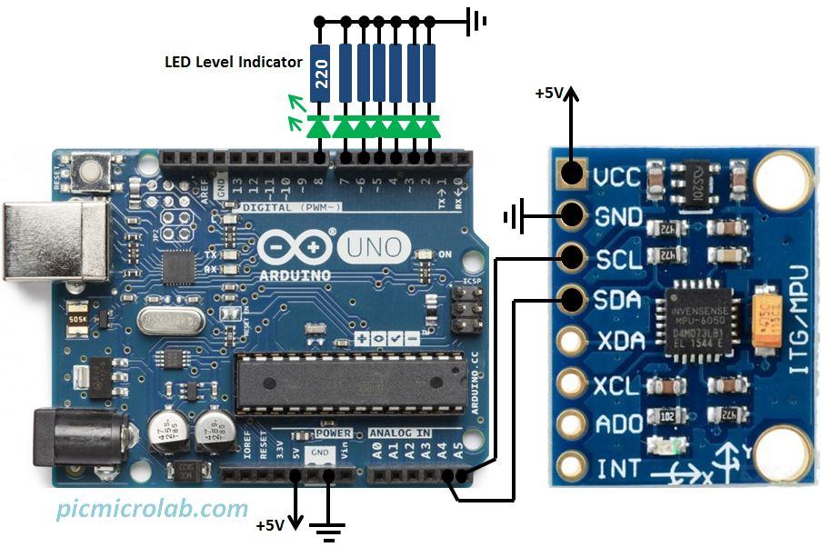 Arduino Digital Level MPU-6050