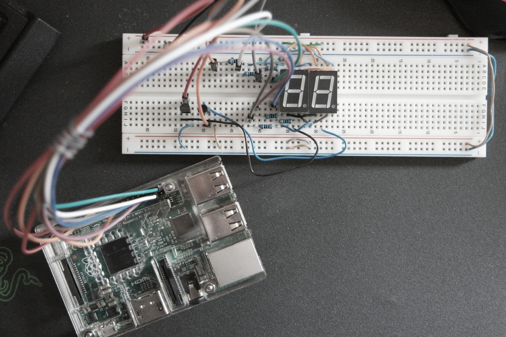 Multiplexing 7-Segment Display with Raspberry Pi ... on